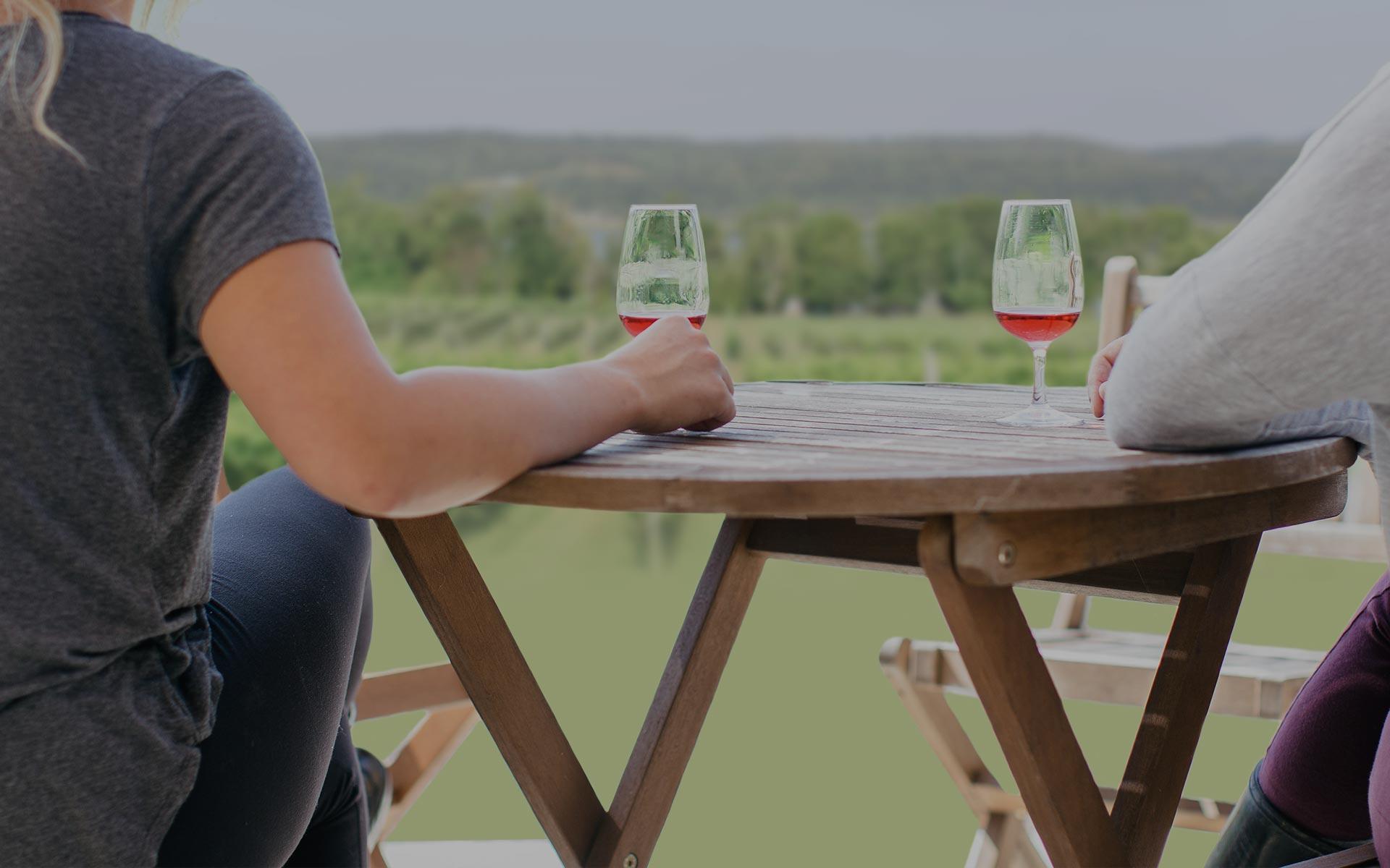 <h1>Vos amis, vos voisins, votre nouveau vin pr&eacute;f&eacute;r&eacute;.</h1>  <p>Nous repoussons les limites de la production vinicole au Nouveau-Brunswick sans franchir la fronti&egrave;re.</p>